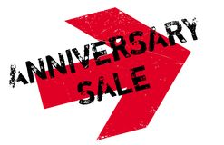 Anniversary Sale rubber stamp Royalty Free Stock Photography