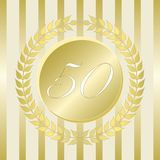 Anniversary Seal Fifty Years stock illustration