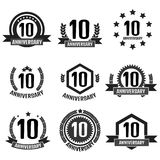 Anniversary 10 set logo. Vector illustration. Anniversary 10 set logo, vector Stock Images
