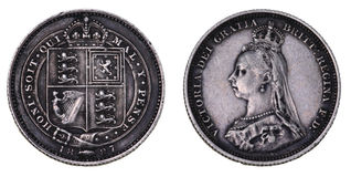 Anniversary shilling 1887 Stock Photo