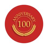 100 anniversary sign. Element of anniversary sign. Premium quality graphic design icon in badge style. One of anniversary collecti. On icon can be used for UI vector illustration