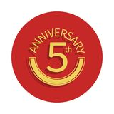 5 anniversary sign. Element of anniversary sign. Premium quality graphic design icon in badge style. One of anniversary collection. Icon can be used for UI, UX Royalty Free Illustration