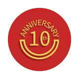 10 anniversary sign. Element of anniversary sign. Premium quality graphic design icon in badge style. One of anniversary collectio. N icon can be used for UI, UX Stock Illustration