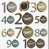 Anniversary signs and cards  design Royalty Free Stock Photography