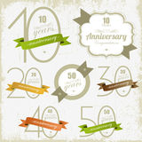 Anniversary signs and cards  design Stock Photo