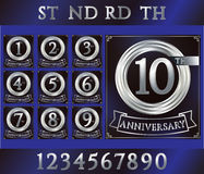 Anniversary silver ring Royalty Free Stock Photos