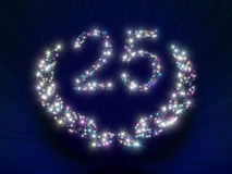 Anniversary Stars Number 25 years Stock Image
