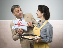 Anniversary surprise gift Stock Photography