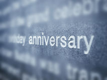Anniversary type on grey textured Background Royalty Free Stock Photos