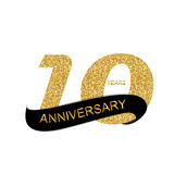 Anniversary Vector Illustration. Template Logo 10th Anniversary Vector Illustration EPS10 Royalty Free Illustration