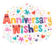 Anniversary wishes. Decorative lettering text Royalty Free Stock Photos