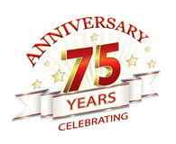 Anniversary 75 years Royalty Free Stock Photo