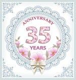 Anniversary 35 years Stock Photo
