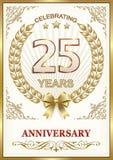 Anniversary 25 years Royalty Free Stock Photo