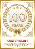 Anniversary 100 years Royalty Free Stock Photo
