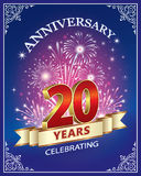 Anniversary 20 years Royalty Free Stock Images