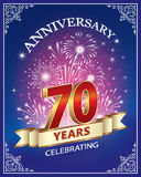 Anniversary 70 years. Greeting card with the 70th anniversary of salute Stock Images