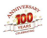 Anniversary 100 years Stock Photo