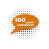 Anniversary, 100 years multicolored icon. Can be used for web, logo, mobile app, UI, UX vector illustration