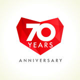 Anniversary 70 years old hearts Royalty Free Stock Photography