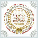 Anniversary 30 years Royalty Free Stock Images