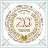 Anniversary 20 years Stock Images