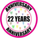 Anniversary 22 years Royalty Free Stock Images
