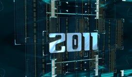 anno 2011 di cyber illustrazione di stock