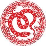 Anno 2013 del serpente Immagini Stock