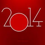 Anno 2014 Fotografia Stock