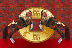 Anno cinese del cavallo Fotografia Stock