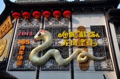 Anno cinese del serpente Fotografia Stock