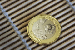 Anno cinese di moneta della scimmia Fotografie Stock