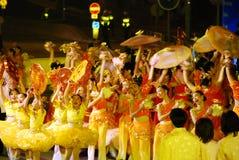 Anno cinese internazionale del Cathay Pacific nuovo Nigh Immagine Stock