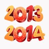 Anno 2013 2014 3D Immagini Stock