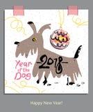 Anno del cane 2018 Fotografie Stock