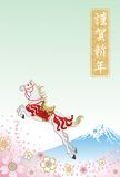 Anno del cavallo, saltante - EPS10 illustrazione di stock