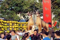 Anno del simbolo della capra per Tet, città di Ho Chi Minh Immagini Stock