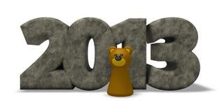 Anno 2013 dell'orso Fotografia Stock