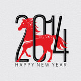 Anno della carta del cavallo Fotografia Stock