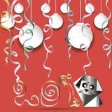 Anno della cartolina d'auguri del cane Fotografie Stock