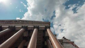 Anno della cattedrale -1818 del ` s della st Isaac di colonnato del fondamento, San Pietroburgo Immagini Stock Libere da Diritti