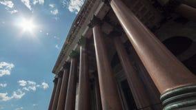Anno della cattedrale -1818 del ` s della st Isaac di fondamento - vista della colonnato, San Pietroburgo Immagini Stock