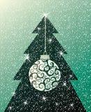 Anno della priorità bassa dell'albero di Natale nuovo Fotografia Stock Libera da Diritti