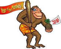 Anno 2016 della scimmia Fotografia Stock Libera da Diritti