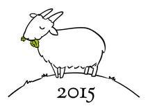 Anno dello scarabocchio della capra per 2015 Fotografie Stock