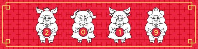 Anno dello stile comico dell'insegna del pic illustrazione di stock