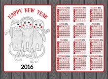 Anno dello zodiaco di cinese della scimmia Fotografia Stock