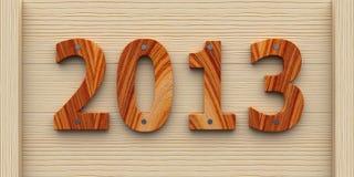 Anno di legno 2013 Fotografia Stock Libera da Diritti