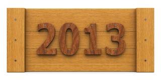 Anno di legno 2013, intero Immagine Stock